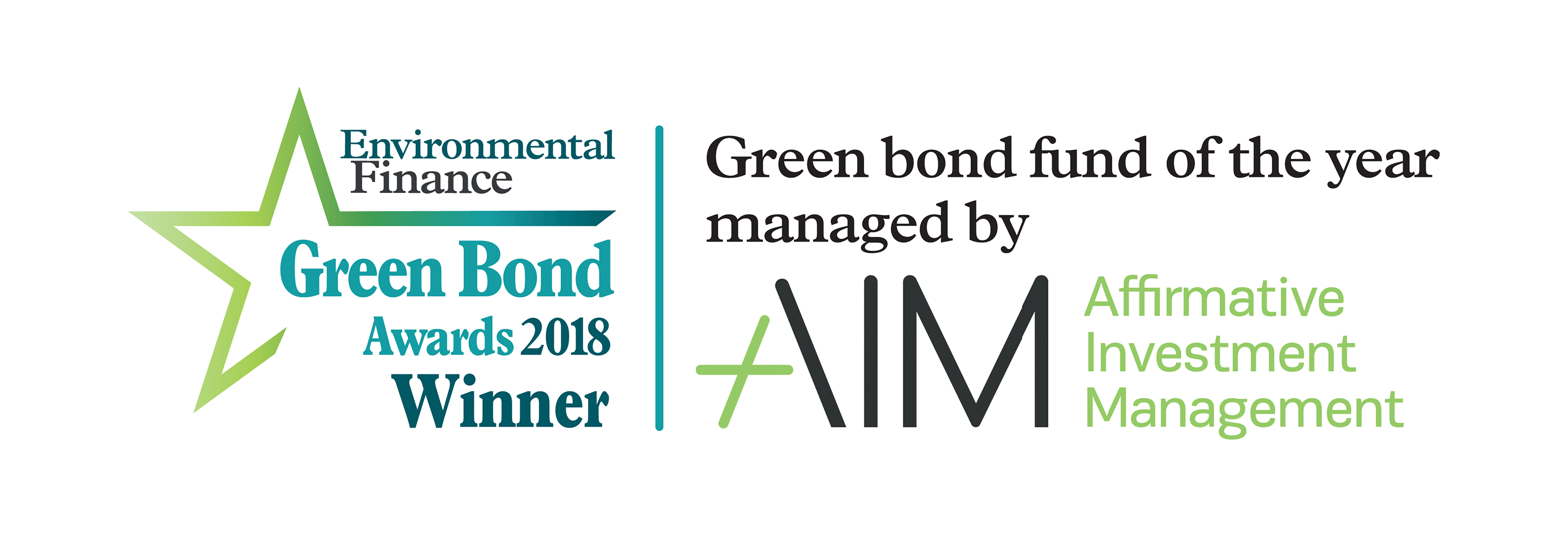 AIM Wins at the 2018 Green Bond Awards
