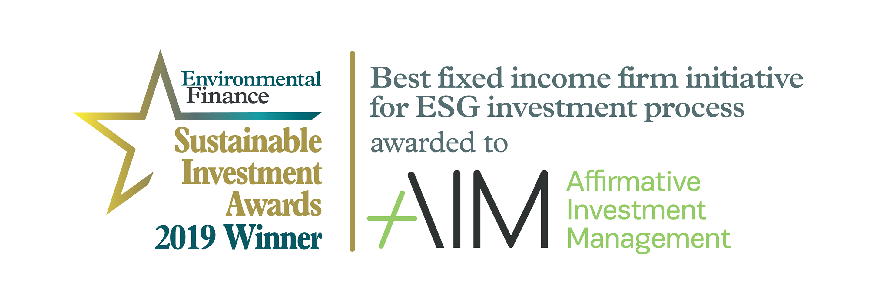 AIM Wins at the 2019 Sustainable Investment Awards